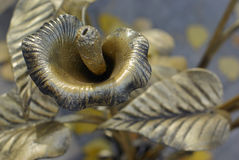 Kalla die van metaal wordt gemaakt. Stock Afbeeldingen