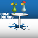 kalla drinkar Arkivfoton