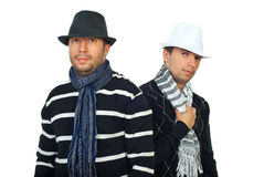 kalla eleganta män två Fotografering för Bildbyråer