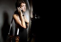 Kalla 911 för hjälp Fotografering för Bildbyråer