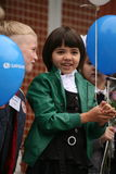 kalla först September 1, kunskapsdag i rysk skola Dag av kunskap första skola för dag Royaltyfria Bilder