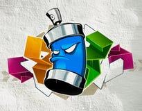 kalla grafitti Arkivbild