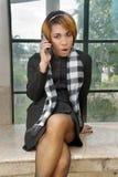 kalla klänningen formell flicka Royaltyfria Foton