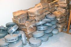 Kalla krigetbunkerfilter arkivfoton
