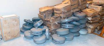Kalla krigetbunkerfilter royaltyfri foto