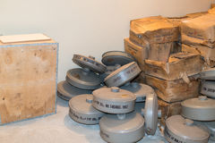 Kalla krigetbunkerfilter royaltyfria foton