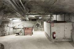 Kalla krigetbunkerinre arkivfoton