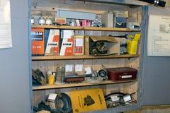 Kalla krigetbunkerreservdelar arkivbild