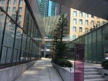 Kalla Shiodome, Tokyo arkitektur Fotografering för Bildbyråer