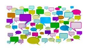kalla symboler för färgrik konversation Royaltyfri Foto