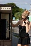 kalla telefonen royaltyfri fotografi