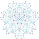 Kalla Tone Spectrum Blue Mandala royaltyfri fotografi