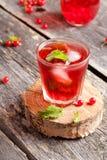 Kalla uppfriskande Berry Hibiscus Iced Tea med mintkaramellen Royaltyfria Foton