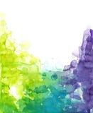 Kalla vattenfärgfärger Arkivbild