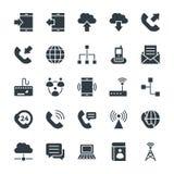 Kalla vektorsymboler 1 för kommunikation stock illustrationer