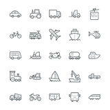 Kalla vektorsymboler 1 för transport Arkivbilder