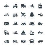 Kalla vektorsymboler 1 för transport Royaltyfri Foto