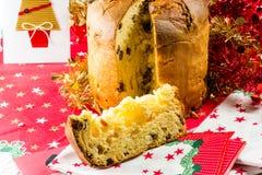 Kallad italiensk kaka för jul fotografering för bildbyråer
