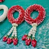 kallad stil för blommamalai s thai tradition Det har kallat 'Malai Royaltyfria Bilder