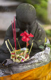 Kallade hinduiska Offerings för Balinese Canang Arkivfoton