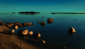Kallahti, Vuosaari, Helsinki. Kallahti area sea view on a sunset Stock Photos