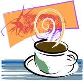 kallar kaffe stock illustrationer
