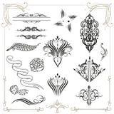 Kalligrafie, decoratie Royalty-vrije Stock Foto