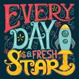 Kalligrafie Inspirational citaat Motivatie voor het leven en happine Royalty-vrije Stock Afbeeldingen