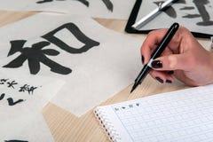 Kalligrafieblocnotes Stock Afbeeldingen