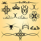 Kalligrafieornament Royalty-vrije Stock Foto