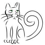 Kalligrafikatt Royaltyfri Fotografi