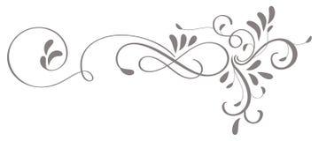 Kalligrafikrusidullkonst av dekorativa whorls för tappning för design Vektorillustration EPS10 Royaltyfria Bilder