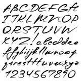 Kalligrafisch alfabet Stock Foto's