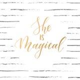 In kalligrafisch citaat Royalty-vrije Stock Foto's