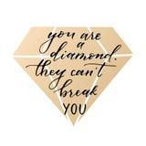 In kalligrafisch citaat Royalty-vrije Stock Foto