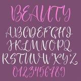 Kalligrafisch Engels alfabet Stock Afbeelding