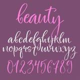 Kalligrafisch Engels alfabet Stock Fotografie