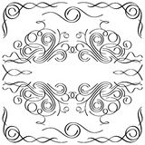 Kalligrafisch frame Stock Fotografie