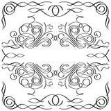 Kalligrafisch frame Stock Afbeeldingen