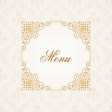 Kalligrafisch frame Vector uitstekende elegante tekst Stock Afbeeldingen