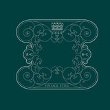 Kalligrafisch kader van lijnenpatroon Koninklijk monogram Royalty-vrije Stock Foto