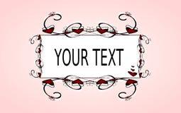 Kalligrafisch ontwerp Stock Foto