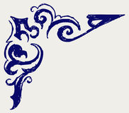 Kalligrafisch ontwerpelement. De stijl van de krabbel Royalty-vrije Stock Foto's