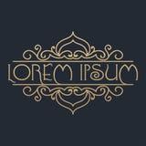 Kalligrafisch ontwerpelement Gouden merk Royalty-vrije Stock Foto