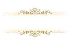 Kalligrafisch restaurantmenu Het uitstekende malplaatje van het ornament vectorboek Retro grens van de groetkaart, huwelijksuitno vector illustratie