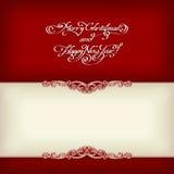 Kalligrafisch uitstekend kader Royalty-vrije Stock Foto