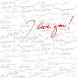 Kalligrafische achtergrond voor de dag van de valentijnskaart royalty-vrije illustratie