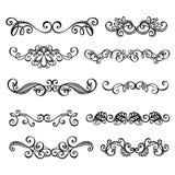 Kalligrafische de Paginadecoratie van D van Grenzenanctor Stock Afbeelding