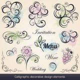 Kalligrafische Decoratieve Ontwerpelementen Royalty-vrije Stock Afbeeldingen