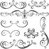 Kalligrafische elementen Royalty-vrije Stock Afbeelding